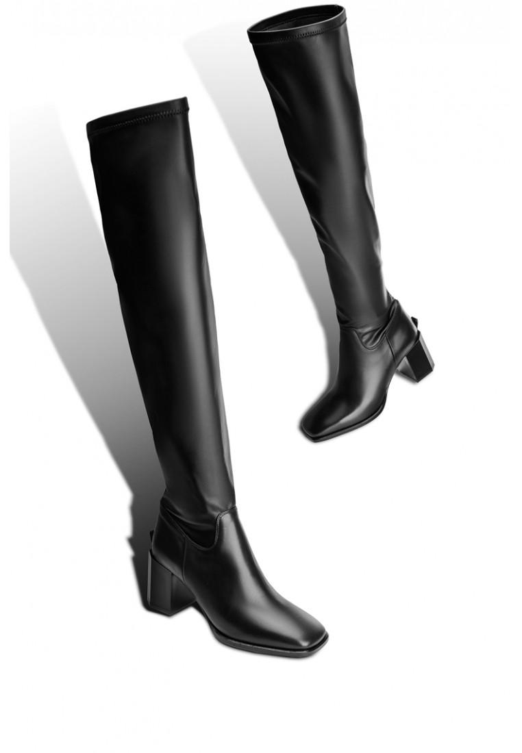 Ботфорты кожаные женские