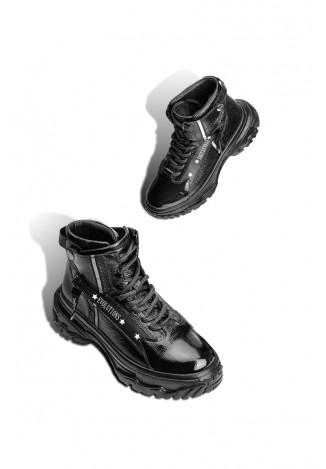 Ботинки лаковые женские