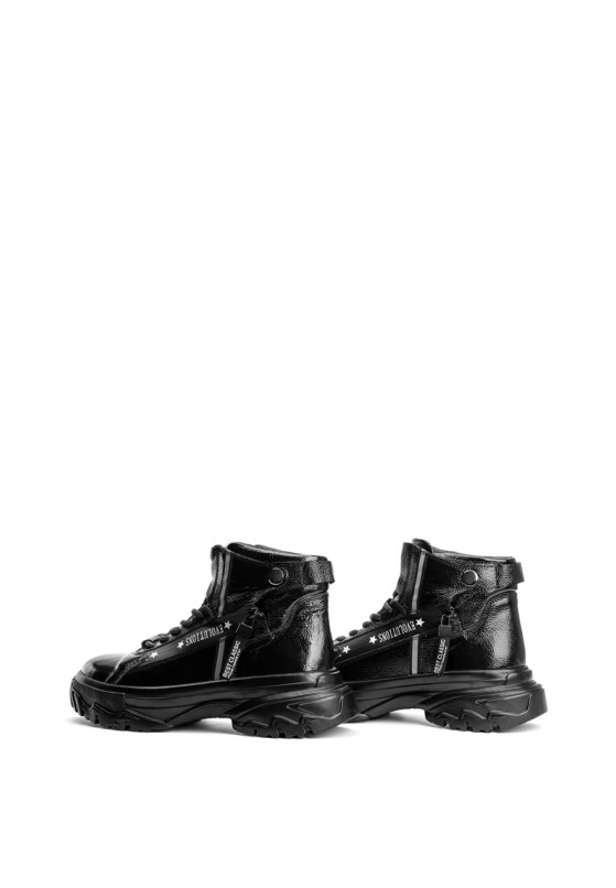 Ботинки лаковые женские Fidelitti