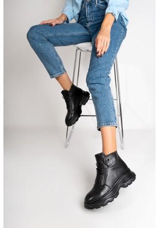 Ботинки кожаные женские