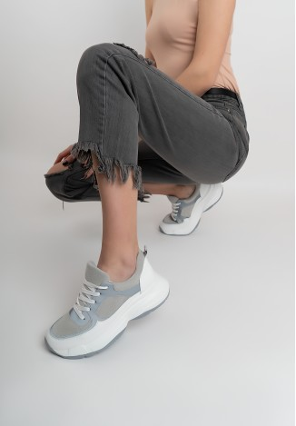 Кроссовки серые женские