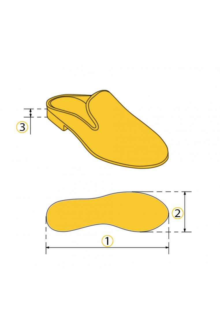Туфли мюли кожаные
